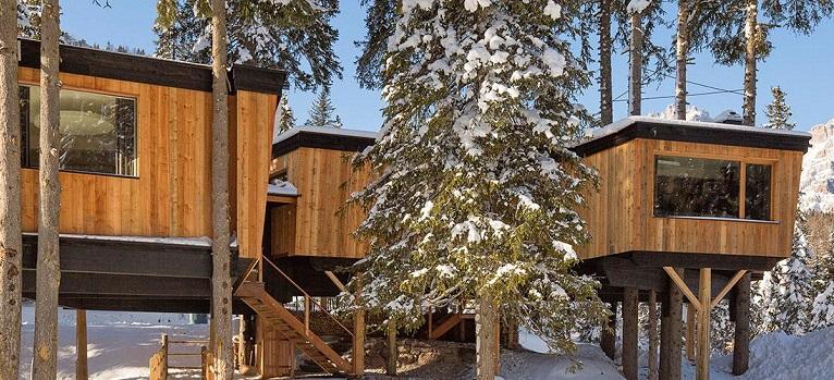 Glamping-Trentino-Alto-Adige - casa sull'albero Sexten