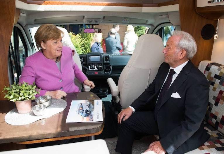 Striewski con Merkel