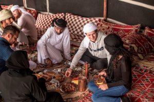 Enjoying the Al Marmoom Bedouin Experience